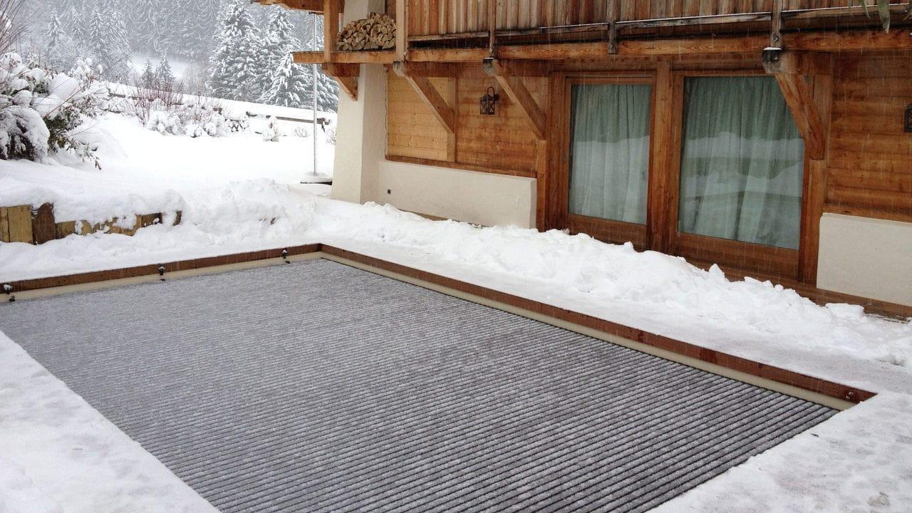 Зимнее накрытие для бассейна или зачем накрывать бассейн зимой
