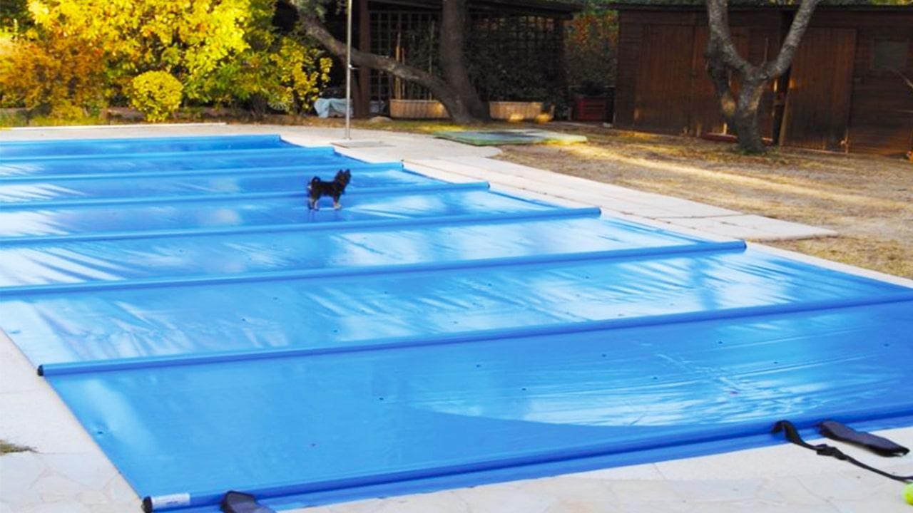 Защита бассейна от собак и мусора